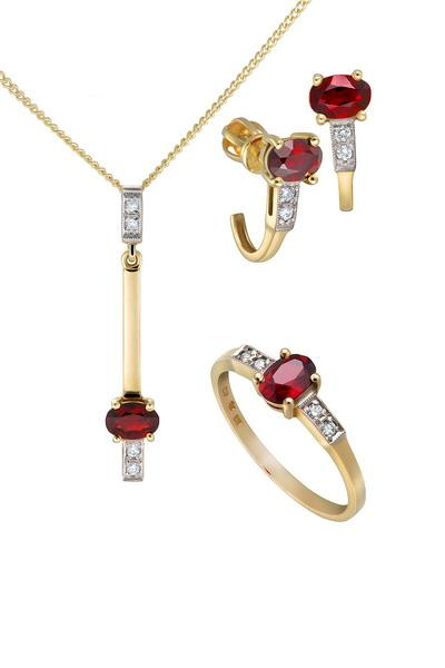 058dab7cc Zlaté kolekcie: Zlatá kolekcia s diamantmi a granátom 266
